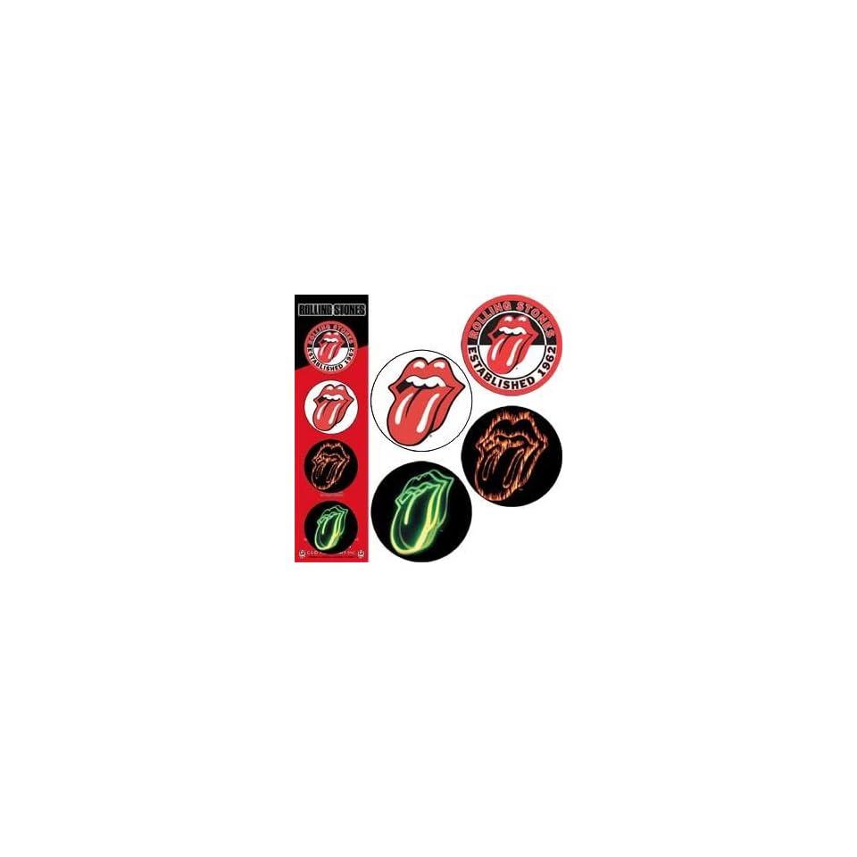 Rolling Stones   Lips logo 1.25 Pinback Button Set (set of 4)