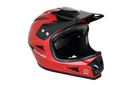 X-Games Youth Full Face Helmet, Satin Red (Youth Full Face Helmets compare prices)