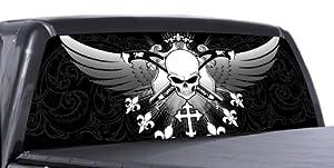 AND GUNS 1 - Rear Window Truck Graphic - decal suv view thru vinyl