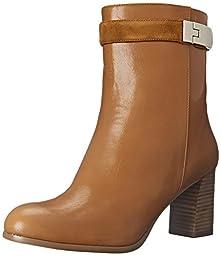 Nine West Women\'s Intimidate Leather Boot, Dark Natural/Dark Natural, 8 M US