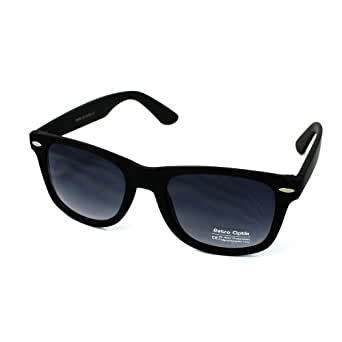 retro optix wayfarer neon sunglasses black
