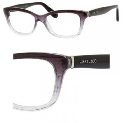 Jimmy Choo JIMMY CHOO Eyeglasses 87 02PY Black Gray Glitter 51MM