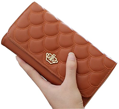 tina-womens-fashion-embossing-crown-long-patent-leather-wallet-purse-brown