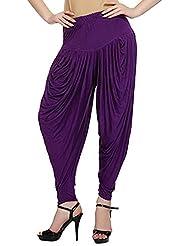 Aarushi Fashions Women's Viscose Relaxed Dhoti Pant (Dk Purple)