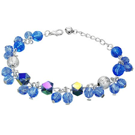 The Stainless Steel Jewellery Shop - Gorgeous Blue Iridescent Beads Bracelet