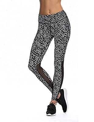 JIMMY DESIGN Damen Leggings Sport Legging - Printed und Klassisch - S, M, L, XL