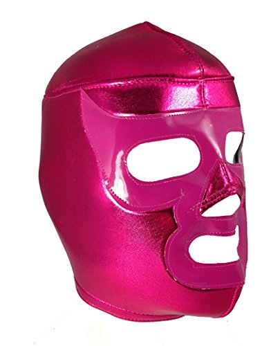 PINK RAMSES Adult Lucha Libre Wrestling Mask (pro-fit) Halloween Costume Wear - Pink