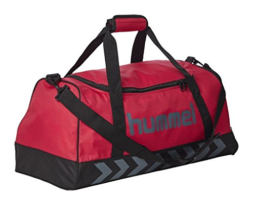 Hummel - Borsa sportiva da uomo Authentic, Tasche Authentic Sports Bag, Virtual Pink/Dark Slate