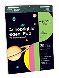 Neenah 25912 Astrobrights Easel Pad, 30 Sheets per pad, 25 X 30.75 inches