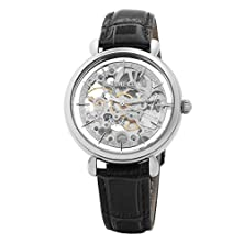 buy Time100 Skeleton Apparent Space Automatical Genuine Leather Strap Mechanical Couple Watch #W60026L.01A