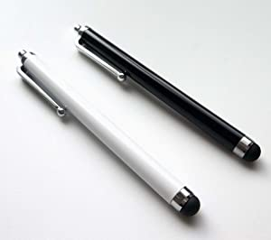 Bargains Depot® (White & Black) 2 pcs (2 in 1 Bundle Combo Pack) Capacitive Stylus/styli Universal Touch Screen Pen for Tablet PC Computer : Le Pan TC 970 9.7 Inch Google Android Tablet, Google 3G WiFi MID 4GB Tablet, Epad VIA 8650 Tablet, SVP TPC7901 Ta