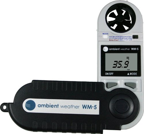 Ambient Weather WM-5 Handheld Weather Station w/ Windspeed, Temperature, Humidity, Dew Point, Heat Index, Pressure & Altitude