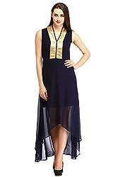 Cottinfab Women Georgette Blue Dress (XX-Large)