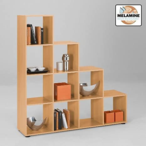 4 Tier Beech Display Shelves, Mega2