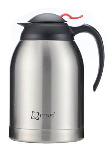 XuGuang® 70-Ounce Thermal Double Wall Vacuum Insulated Stainless Steel Carafe Large Mouth Opening Capacity Keep Beverages Hot or Cold for Hours (Drink Carafe compare prices)