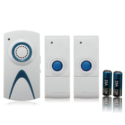 35 Melody Chime EU UK Plug Door Bell 2 Remote Control with 1 Receivers Option: UK plug