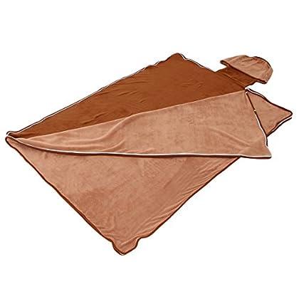 BIBILAB(ビビラボ) 蹴飛ばせない 巣的な毛布 ブラウン ND1-24
