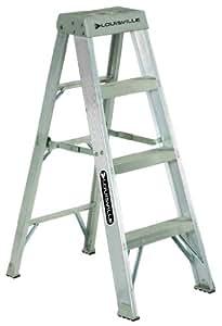 Louisville Ladder AS1004 300-Pound Duty Rating Aluminum Stepladder, 4-Foot