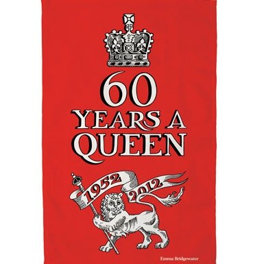Diamond Jubilee '60 Years a Queen' Tea Towel||RNWIT