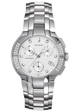 Accutron by Bulova 26E05 York Collection Swiss Made Chronograph Diamond Mens Watch