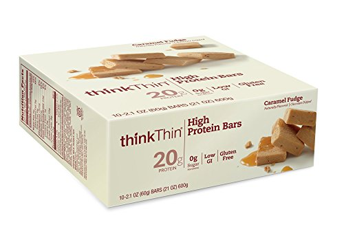 thinkThin High Protein Bars, Caramel Fudge, 2.1 Ounce (pack of 10) (Think Thin Bars Caramel compare prices)