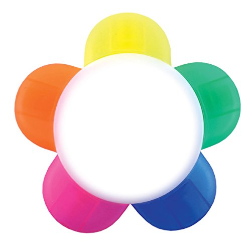 highlighter-pen-flower-shaped-multi-5-colours-in-1-school-office-stationary