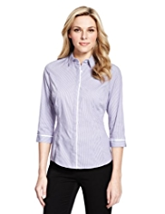 M&S Collection No Peep™ Striped Shirt