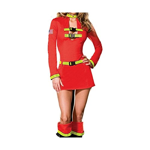 GSG Sexy Firefighter Costume for Women Adult Halloween Fancy Dress (Mens Sexy Firefighter Costume)