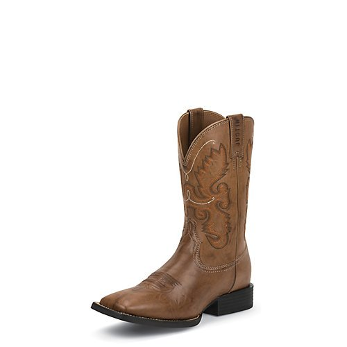 Justin Men's Burnished Farm And Ranch Cowboy Boot Square Toe Wood 11.5 D(M) US (Woods Boots compare prices)