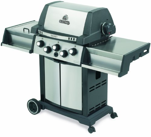 Broil King 986784 Signet 90 Liquid Propane Gas Grill with Side Burner and Rear Rotisserie