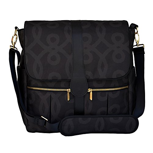 JJ Cole Backpack Diaper Bag, Black and Gold