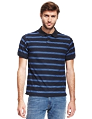 North Coast Pure Cotton Striped Polo Shirt