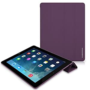 CaseCrown Omni Cover Case (Purple) for iPad 4th Generation with Retina Display, iPad 3 & iPad 2 (Built-in magnet for sleep / wake feature)