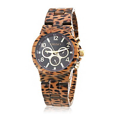 Watches - Women'S Leopard Print Style Ceramic Band Quartz Wrist Watch