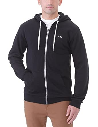 Vans Core Basics Zip Hoodie II Men's Jumpers Black Small