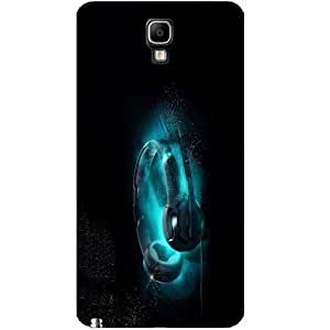 Casotec Cool Headphone Design Hard Back Case Cover for Samsung Galaxy Note 3 Neo