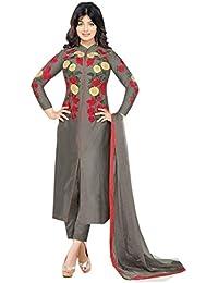 Globalia Creation Women's Cotton Salwar Suit Set (Gol-1129_Beige_Free Size)