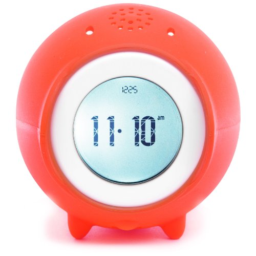 Tocky MP3 Voice Recording Alarm Clock, Red