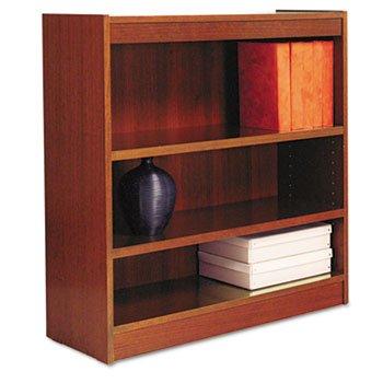 Alera Square Corner Wood Veneer Bookcase 3 Shelf 35 38 X 11 34 X 36 Medium Cherry Best Hai9thang45