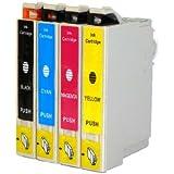 Generic  Epson Ink Cartridges for Epson Stylus NX125, NX420, NX625, WorkForce 320, 323, 325, 520 T125- BK, C, M, Y-4 Pack