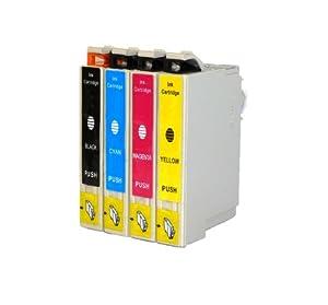 Epson Ink Cartridges for Epson WorkForce 520, 630, 635, 840, 60 T126- BK, C, M, Y-4 Pack
