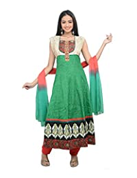 Sareeshut Women's Net Regular Fit Anarkali Suits - B00WQYYRXO