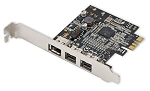 Syba Low Profile PCI-Express 1394b/1394a (2B1A) Card, TI Chipset, Extra Regular Bracket SD-PEX30009