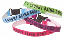 Caught Being Good Bracelets (300 Pieces) - Caught Being Good Braceletsreward Your Student Next Time They Do Something Good With A Bracelet. Comes In Assorted Colors With The Phrase \