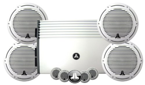 Marine Kit - JL Audio M4300 Amplifier & 2 Sets Of M770-CCS-CG-WH Components Combo Package