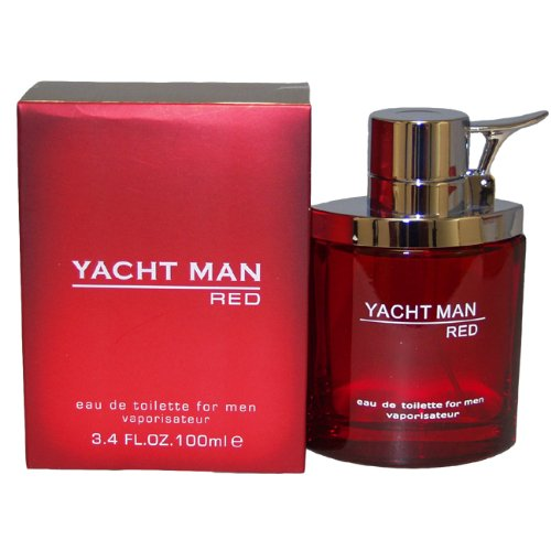 Yacht Man Red by Myrurgia Eau De Toilette Spray for Men, 3.40 Ounce