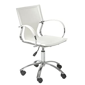 euro style vinnie office chair white leather chrome kitchen dining