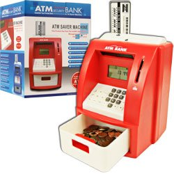 Deluxe ATM Toy Bank w/ ATM Card Red. Product Category: Toys & Games > Games