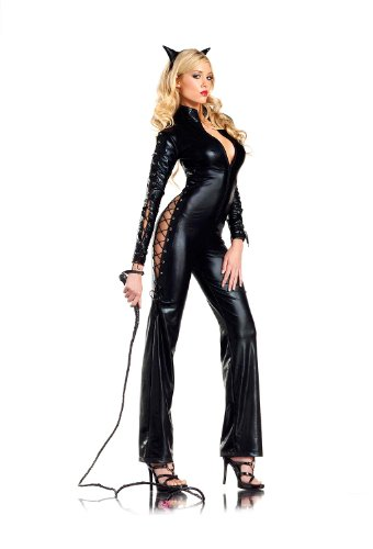 Be Wicked BW1212, 3-Piece set Two-faced Catwoman Costume.