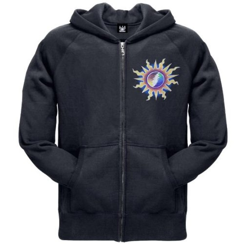 Old Glory Mens Grateful Dead - Sunshine Lightning Zip Hoodie - 2X-Large Black